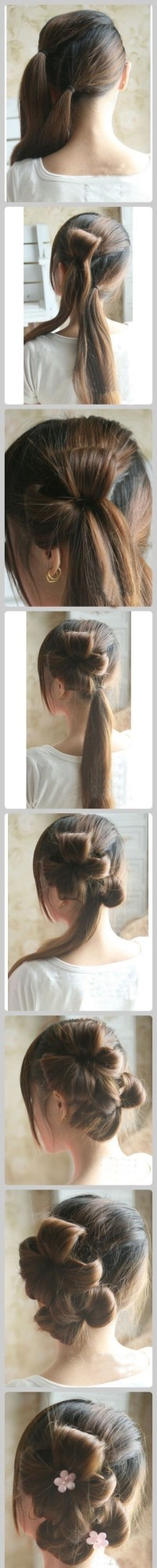 simple and beautiful flaxen hair