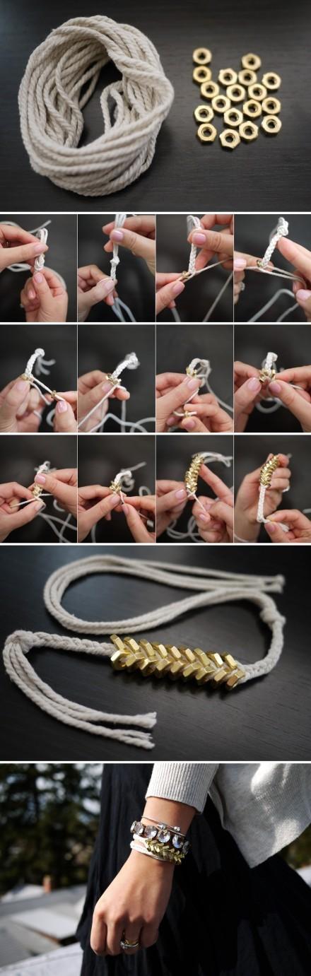 Hexagon Screw Bracelet