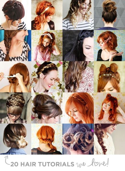 20 Hair Tutorials We Love! – A Beautiful Mess