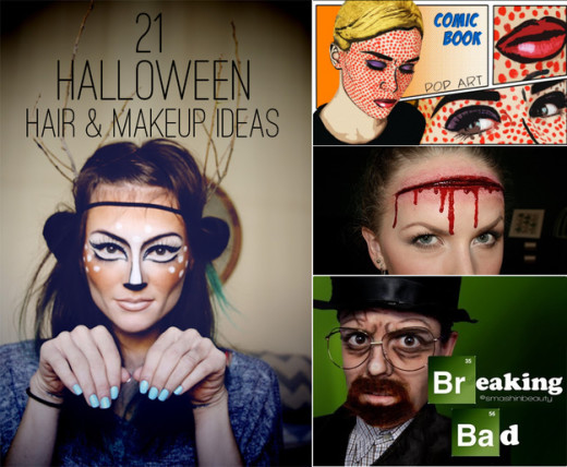 21 Easy Hair And Makeup Ideas For Halloween