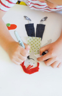 Children DIY, handmade paper doll tutorial