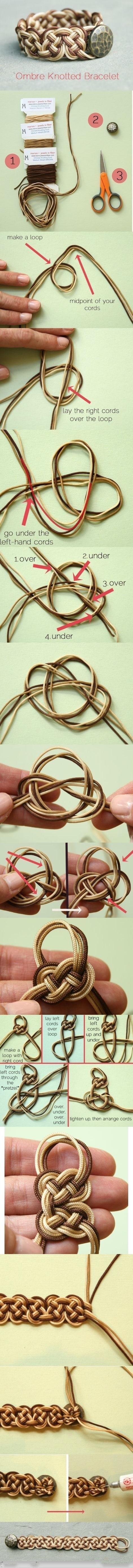 DIY Ombre Knotted Bracelet