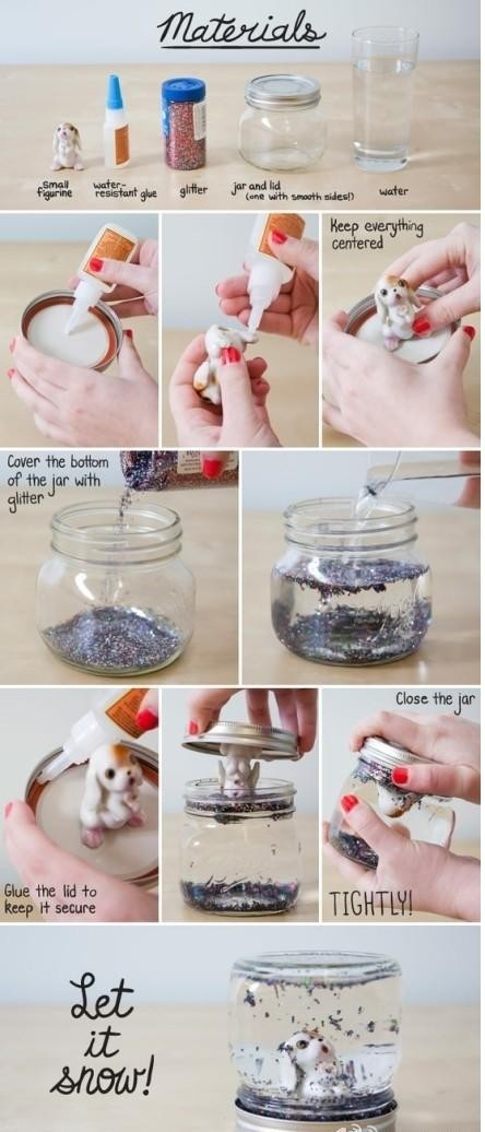 How to make crystal water ball from the jar.