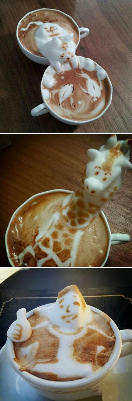 Coffee Art by Artist Kazuki Yamamoto perfect interpretation