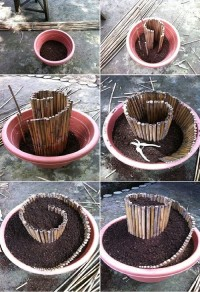 DIY Mini Spiral Garden DIY Projects