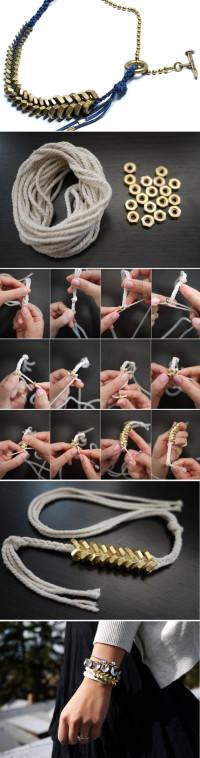 DIY punk style bracelet