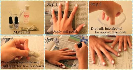 DIY Newspaper nails tutorial