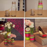turn ordinary glass transform into small fresh art style decorative vase