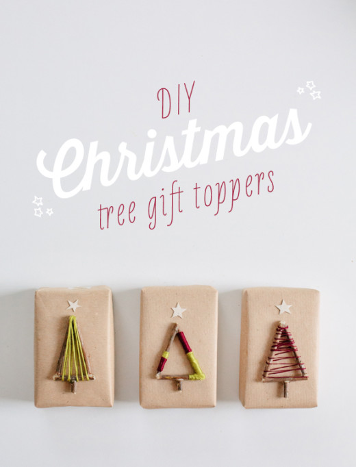 DIY Christmas Tree Gift Toppers