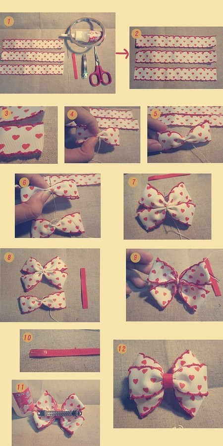 bow tie hairpin
