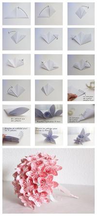 Origami DIY handmade flowers