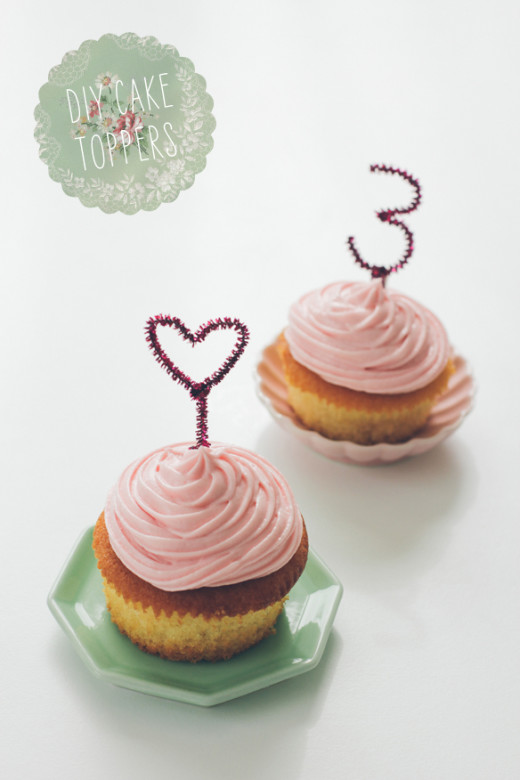 DIY Sparkly Cake Toppers