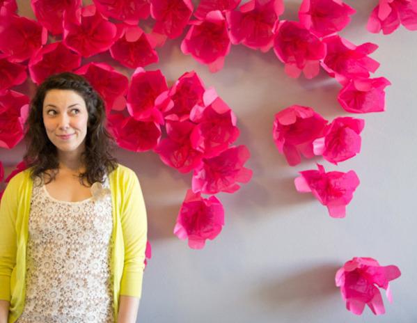 Diy wall art handmade paper flowers tutorial diy crafts zoom mightylinksfo