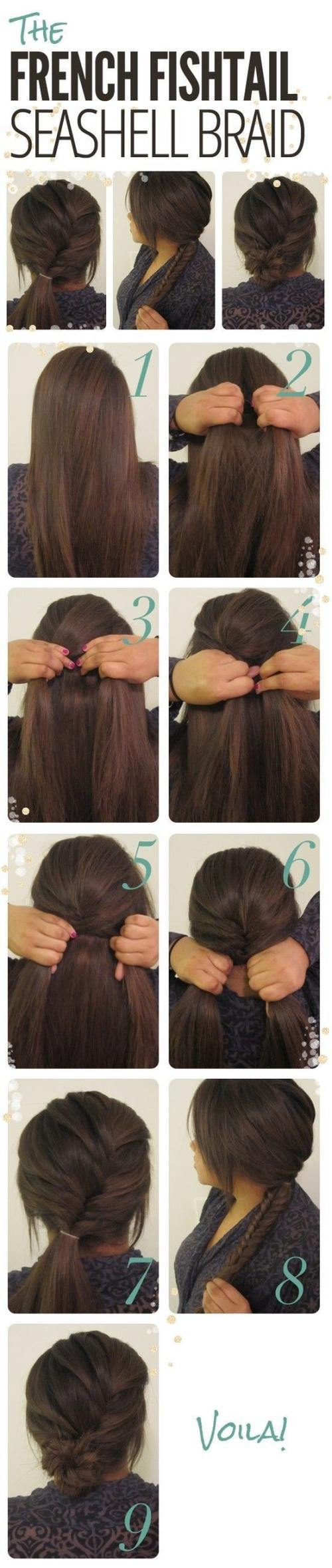The French Fishtail Seashell Braid – Do It Yourself Hairstyle Ideas : theBERRY