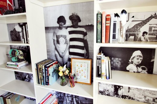 Family Photo Bookshelf Project – A Beautiful Mess
