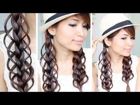 ▶ Feather Loop Braid Hair Tutorial Hairstyle