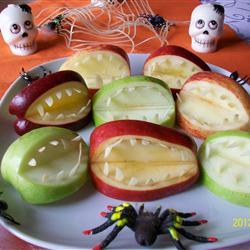 Halloween Fruit Apple Teeth Treats Recipe