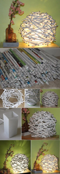 newspaper lamp