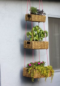 Hanging Basket Garden DIY – A Beautiful Mess