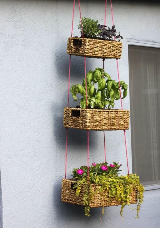 Hanging Basket Garden DIY – A Beautiful Mess