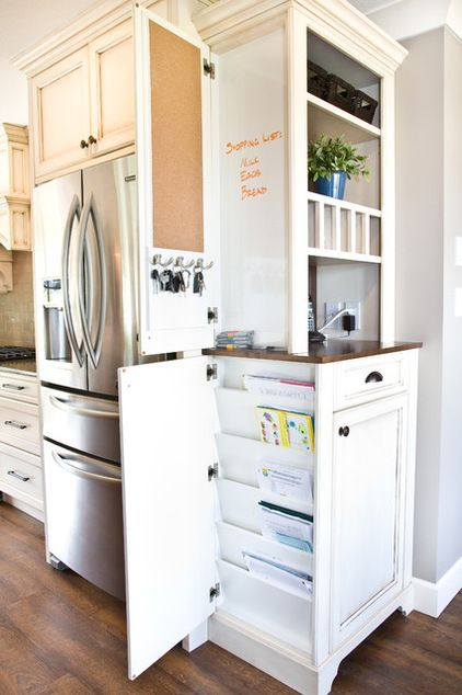 Hidden doors on the side of cabinets. How … | Why Didn't I Think of…