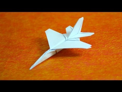 ▶ How to make an F16 Jet Fighter Paper Plane (Tadashi Mori) – YouTube