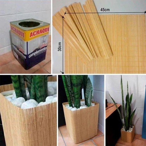 How to make beautiful containers for cute plants or flowers step by step DIY tutorial instructions | How To Instructions