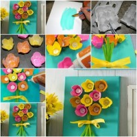 How To Make beautiful flowers with Egg Boxes step by step DIY tutorial instructions | How To Instructions