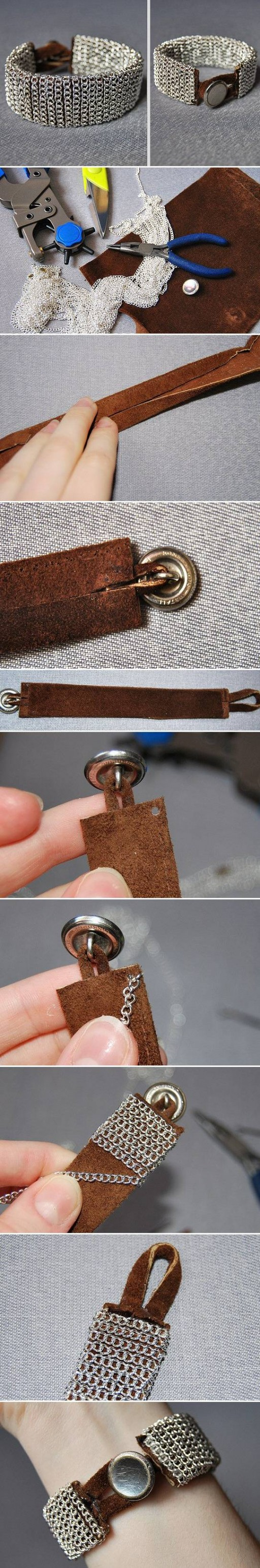 How To Make beautiful silver wrist bands step by step DIY tutorial instructions | How To Instructions