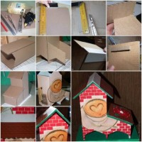 How To Make Cute Cardboard Tea Bag Dispenser step by step DIY tutorial instructions | How To Instructions