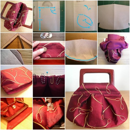 How To Make Cute Fashionable Handbag step by step DIY tutorial instructions | How To Instructions