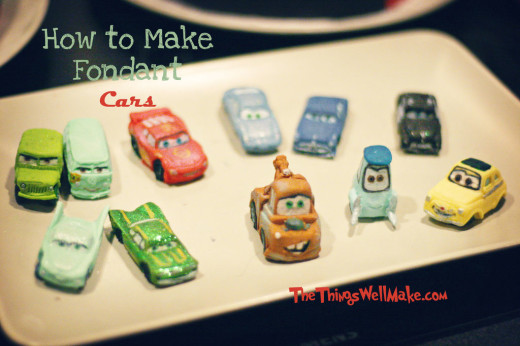 How to make Fondant (Disney-Pixar) Cars for your Cake or Cupcakes