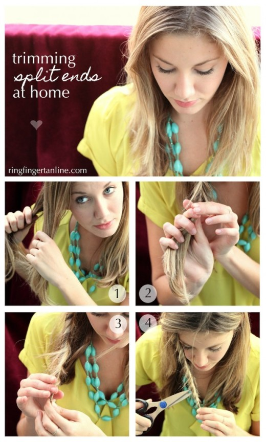 How-to: Trim Split Ends at Home