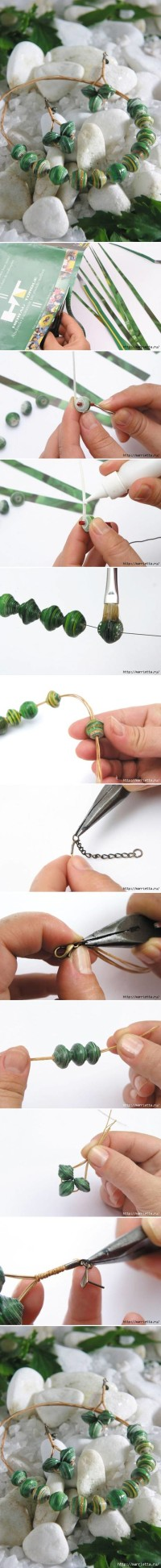How to use Magazine to make jewelry feel necklaces and Earrings step by step DIY tutorial instructions | How To Instructions