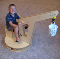 Kid Crane Riding Toy. Instructions+video
