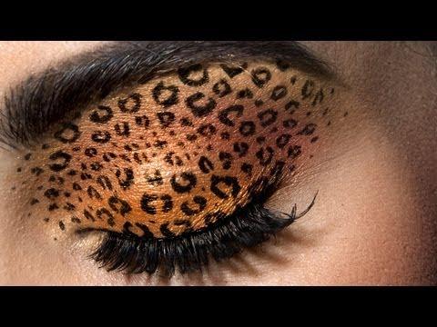 Leopard Eyes: HD Makeup Tutorial – YouTube. Jordan Liberty creates a glamorous Halloween-chic look on model Brooke Quinn.