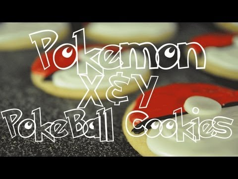▶ POKEMON X&Y POKEBALL COOKIES (TheVegetarianBaker) – YouTube