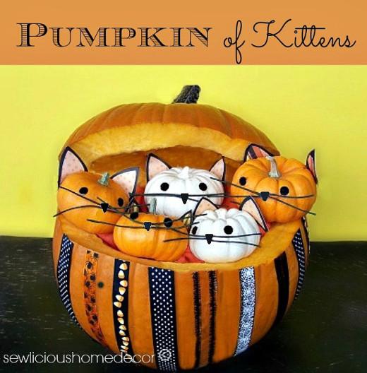 Pumpkin Full Of Kittens {halloween}