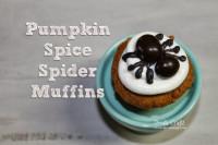 Pumpkin Spice Spider Muffins!