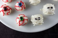 Spooky Sweets: Eyeball and Mummy Cake Balls from Brit + Co.