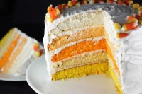 Spooky Sweets: Ombre Candy Corn Cake From Brit + Co.