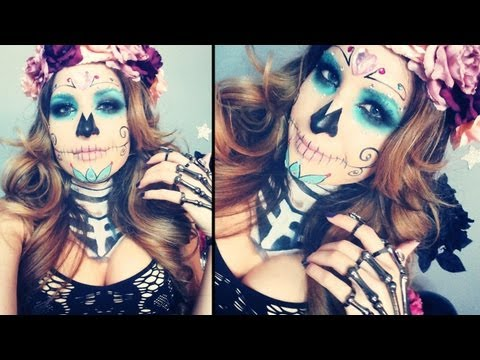 Sugar Skull Makeup Tutorial for Halloween