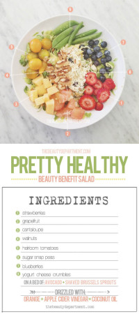 Beauty Benefit Salad. The Beauty Department: Your Daily Dose of Pretty.