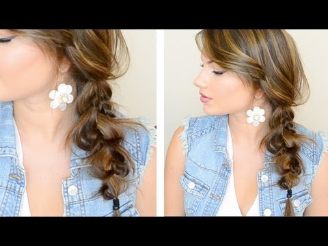 ▶ The Messy Side Braid – YouTube