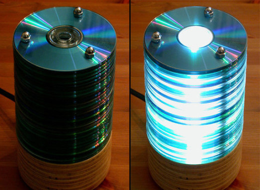 Did you have old CD's and don't know what to do with them? Here is some great solution. Transformation of the old material.