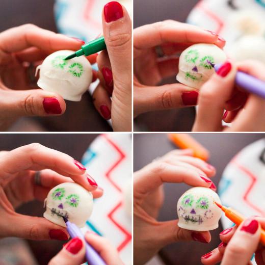 Tres Leches Sugar Skull Cake Balls