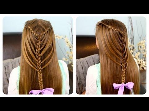 ▶ Waterfall Twists into Mermaid Braid | Cute Girls Hairstyles – YouTube