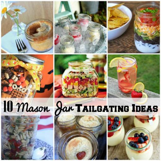 10 Mason Jar Tailgating Food Ideas – DIY