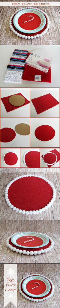 Diy felt plate charger | Founded at Uncommon designs