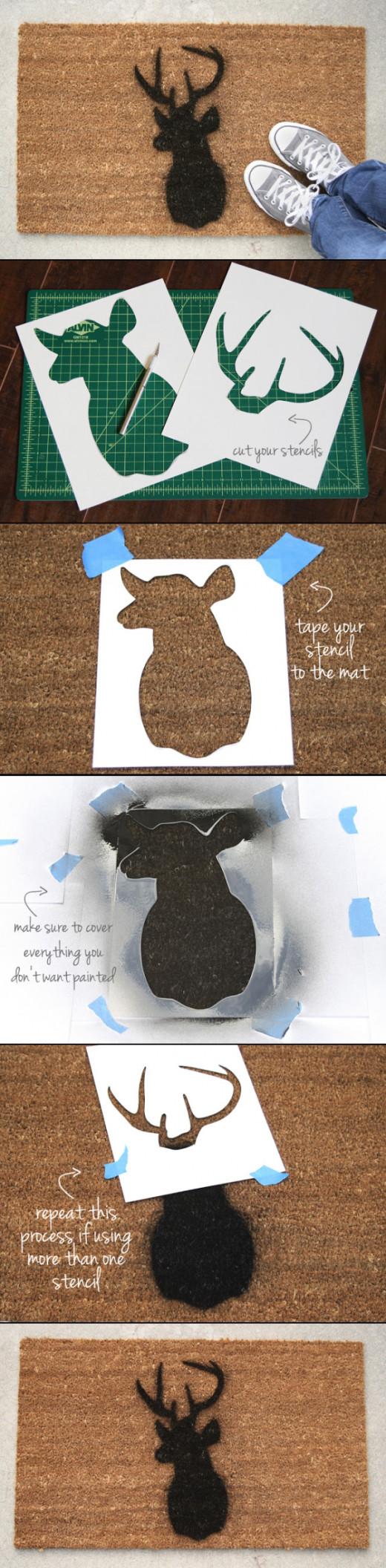DIY Sillhouette Doormat